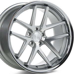 22x9 22x10.5 Rohana RC9 Machine Silver w/Chrome Lip concave wheels (Staggered) by Authorized Dealer www.kixxmotors.com