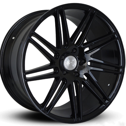 Road Force RF11 Gloss Black concave wheels. Staggered rims by Kixx Motorsports https://www.kixxmotorsports.com