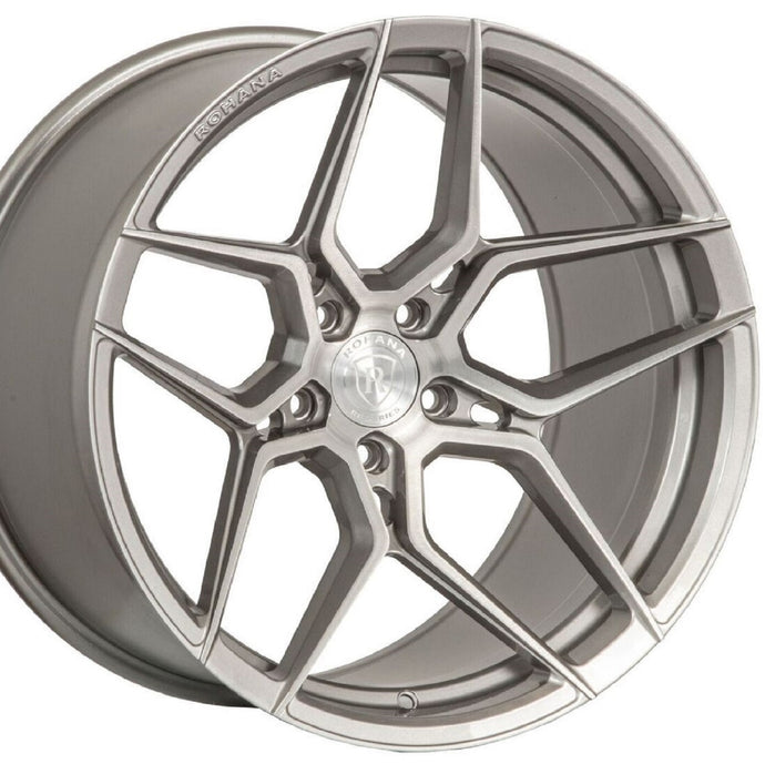 20x11 Rohana RFX11 Titanium Silver Forged deep concave wheels rims for Audi A5 S5 by Kixx Motorsports https://www.kixxmotorsports.com/products/20x11-rohana-rfx11-brushed-titanium-wheel-rotary-forged
