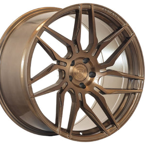 Rohana RFX7 Brushed Bronze concave staggered wheels rims for Chevrolet Corvette C7 Z06, Grand Sport, ZR1. By Kixx Motorsports www.kixxmotorsports.com 949-610-6491 .