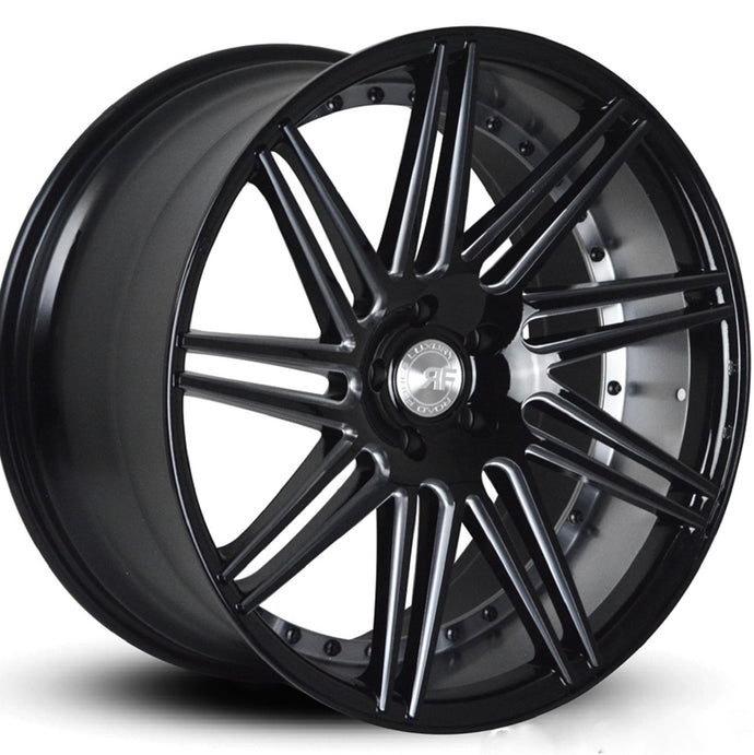 22x9 Road Force RF11 Machine Black concave wheels rims by Kixx Motorsports https://www.kixxmotorsports.com