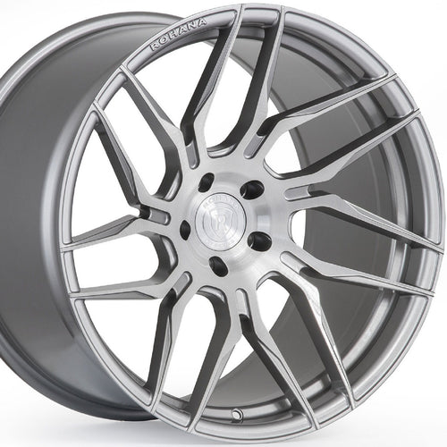 Rohana RFX7 Brushed Titanium Forged Concave Wheels Rims are on Sale by Authorized Dealer KIXX Motorsports www.kixxmotors.com