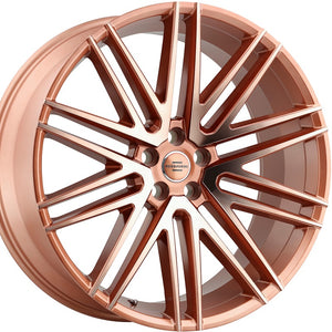 "24"" Redbourne Royalty Rose Gold wheels custom rims for Land Rover Range Rover Sport, HSE, LR3, LR4. By Kixx Motorsports https://www.kixxmotorsports.com/products/24x10-redbourne-royalty-rose-gold-wheel"
