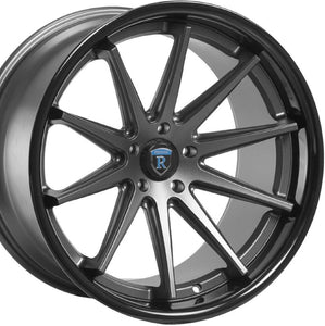 20x11 Rohana RC10 Graphite with Black Lip concave wheels rims for Audi A5 S5 by Kixx Motorsports https://www.kixxmotorsports.com/products/20x11-rohana-rc10-matte-graphite-w-gloss-black-lip-wheel 4