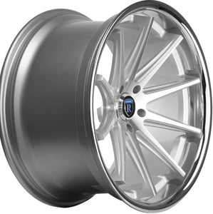 "22x10.5"" Rohana RC10 Machine Silver w/Chrome Lip concave wheels by Authorized Dealer https://www.kixxmotorsports.com/products/22x10-5-rohana-rc10-silver-machined-w-chrome-lip-concave-wheels"