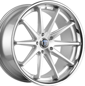 "22"" Rohana RC10 Machine Silver w/Chrome Lip concave wheels by Authorized Dealer https://www.kixxmotorsports.com/products/copy-of-22-full-staggered-rohana-rc10-22x9-20x10-5-silver-machined-w-chrome-lip-concave-wheels"