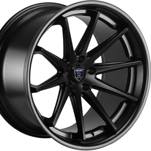 "22"" Rohana RC10 Matte Black w/Chrome Lip concave wheels by Authorized Dealer https://www.kixxmotorsports.com/products/22-rohana-rc10-22x9-matte-black-concave-wheels"