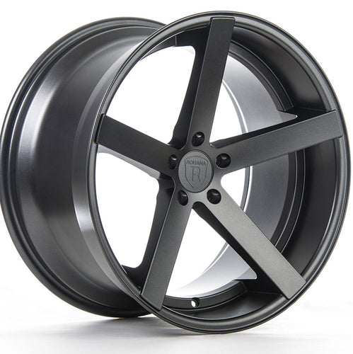 Rohana RC22 Gunmetal Concave Wheels Rims https://www.kixxmotorsports.com/products/19-full-staggered-rohana-rc22-19x8-5-19x11-matte-graphite-concave-wheels
