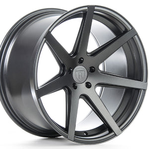 "20"" (Full Staggered) Rohana RC7 20x9 20x10 Matte Graphite Concave Wheels"