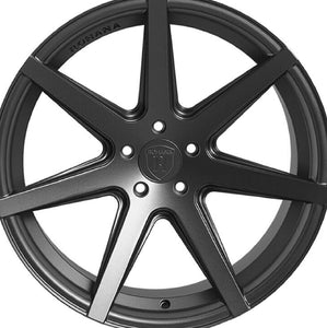 "20"" (Full Staggered) Rohana RC7 20x9 20x11 Matte Graphite Concave Wheels"