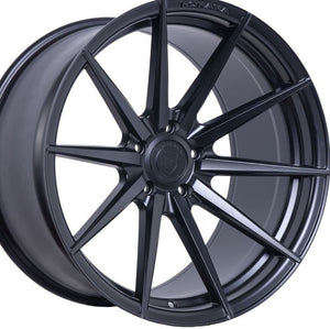 "20"" Rohana RF1 Forged Black Concave Wheels by KIXX Motorsports-Authorized Dealer https://www.kixxmotorsports.com/products/20-full-staggered-set-rohana-rf1-20x10-20x12-matte-black-rotory-forged-wheels"
