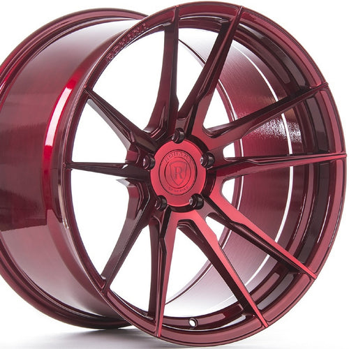 Rohana RF2 Gloss Red Concave Wheels-Rotary Forged by Kixx Motorsports www.kixxmotors.com