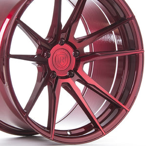 20x10 Rohana RF2 Red Concave Forged Wheels by Authorized Dealer KIXX Motorsports