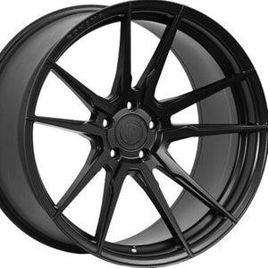 "20"" (Full Staggered Set) Rohana RFX2 20x9 20x11 Matte Black Wheels (Rotary Forged)"