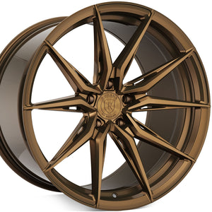 20 inch Rohana RFX13 Brushed Bronze staggered concave wheels forged rims. By Kixx Motorsports https://www.kixxmotorsports.com