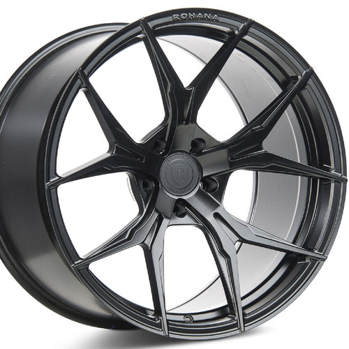 Rohana RFX5 Black Concave Wheels Rims https://www.kixxmotorsports.com/products/22-full-staggered-set-rohana-rfx5-22x9-22x10-5-matte-black-wheels-rotary-forged