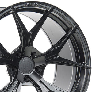 "19"" Rohana RFX5 Black Forged Wheels by Kixx Motorsports-Authorized Dealer https://www.kixxmotorsports.com/products/19x8-5-rohana-rfx5-19x8-5-matte-black-wheel-rotory-forged"