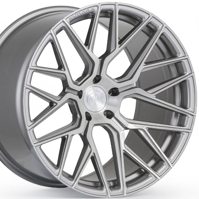 21x10.5 Rohana RFX10 Brushed Titanium/Silver Concave Rotary Forged Wheels Rims on Sale by KIXX Motorsports