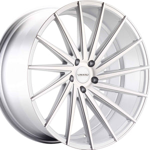 "22"" Varro VD15 brushed silver concave wheels rims. Authorized Dealer Kixx Motorsports https://www.kixxmotorsports.com 4"