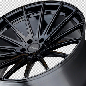 "22"" Varro VD17 Black concave staggered wheels rims by Kixx Motorsports https://www.kixxmotorsports.com 6"