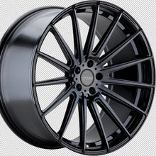 "22"" Varro VD17 Black concave staggered wheels rims by Kixx Motorsports https://www.kixxmotorsports.com 5"