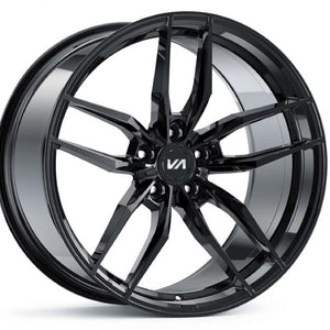 Variant Krypton Black Chrome forged concave staggered wheels rims by Kixx Motorsports https://www.kixxmotorsports.com 1