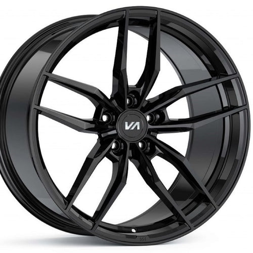 Variant Krypton Gloss Black forged concave staggered wheels rims by Kixx Motorsports https://www.kixxmotorsports.com 1