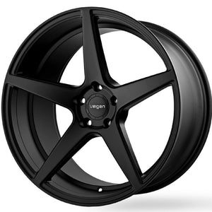 "22"" Velgen Classic 5 Black concave wheels rims by KIXX Motorsports https://www.kixxmotorsports.com/products/22-full-staggered-set-velgen-classic-5-22x9-22x10-5-satin-black-wheels"