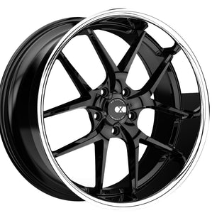22x9 XO Athens Black / Chrome Lip wheels rims by Kixx Motorsports https://www.kixxmotorsports.com