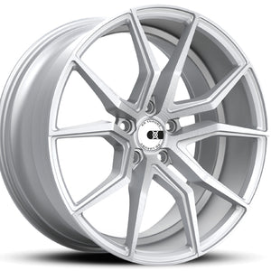 19x9.5 20x11 XO Verona Silver concave wheels rims for Chevy Corvette C6 C7 Stingray by Kixx Motorsports https://www.kixxmotorsports.com