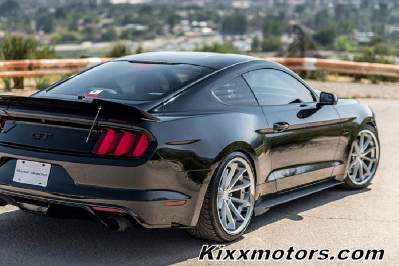 Ford Mustang Gt  Silver Concave Wheels Rims By Kixx Motorsports Blaque