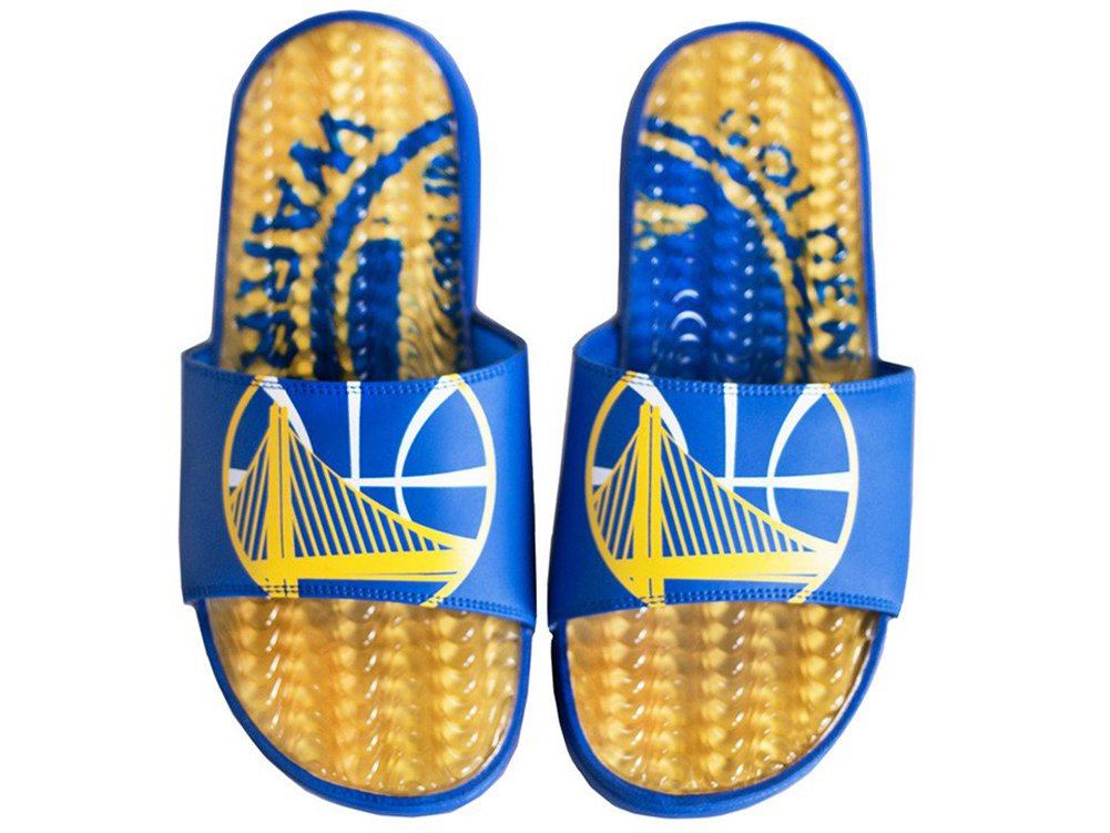 ISlide NBA Golden State Warriors Wave Gel Slide Size 10