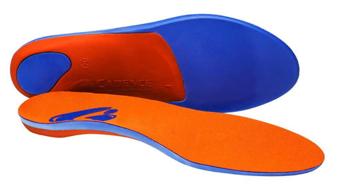 Cadence Insoles Orthotic Shoe Insoles ((C) MEN 5-6 WOMEN 6-7, Orange)
