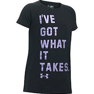 Under Armour Girls Novelty T Shirts