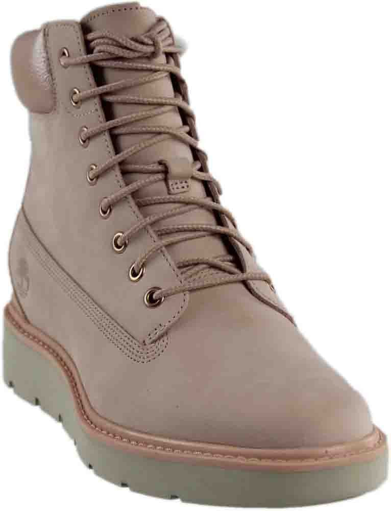 "Timberland Women's Kenniston 6"" Lace-Up Boot Light Pink Nubuck"
