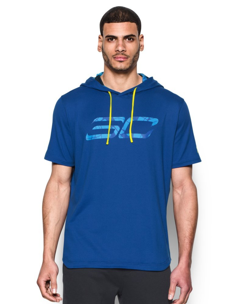 Under Armour Mens SC30 Off-Court Mens Basketball Hoodie Blue XX Large