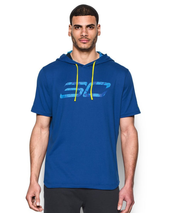 Under Armour Mens SC30 Off-Court Mens Basketball Hoodie Blue Medium