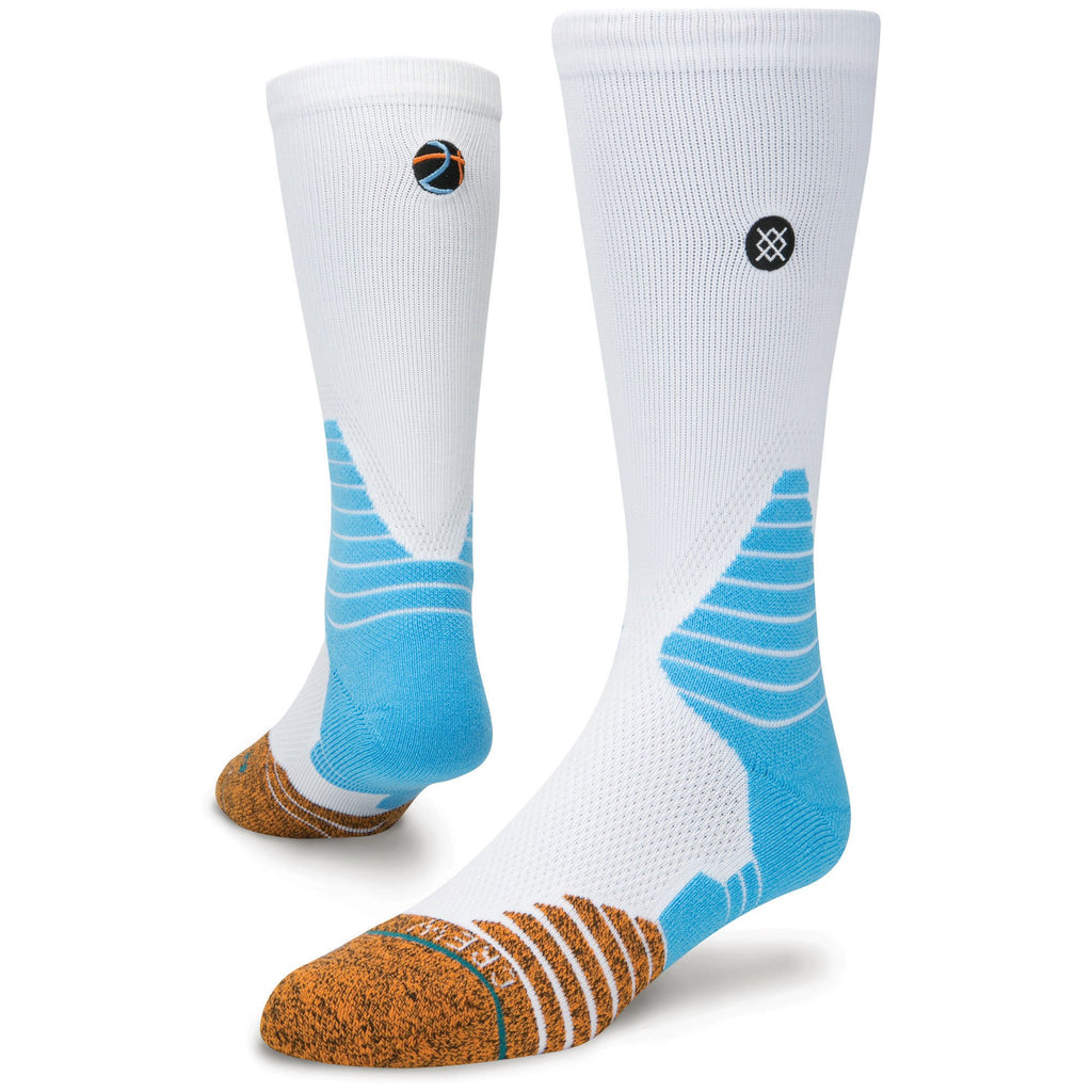 Stance M559D16HAN Men's Handle Life Solid Socks, White - L