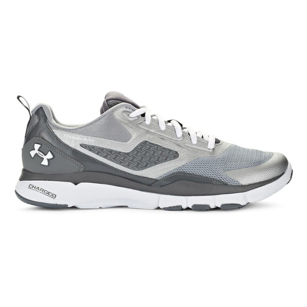 Under Armour Men's UA Charged One Steel/Graphite/White Sneaker 7 D - Medium