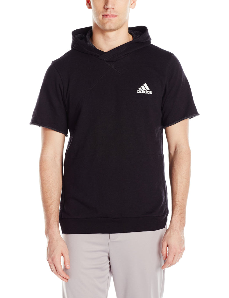 adidas Men's Basketball Cross Up Short Sleeve Hoodie