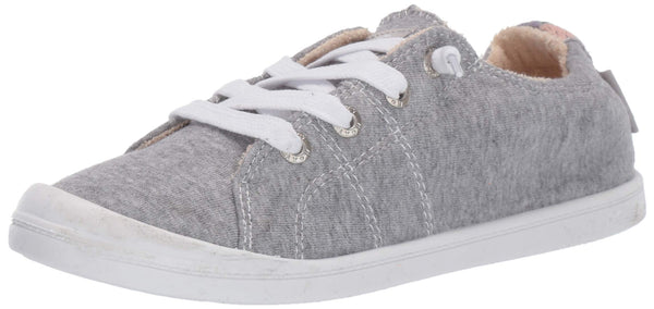 Roxy Women's Bayshore Slip On Sneaker Shoe New Grey ash 9.5 M US