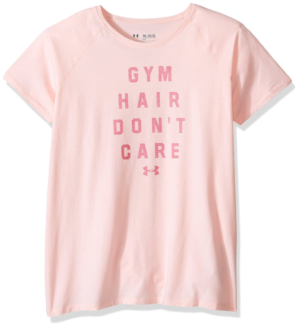 Under Armour Girls' Gym Hair Don't Care Short Sleeve Tee