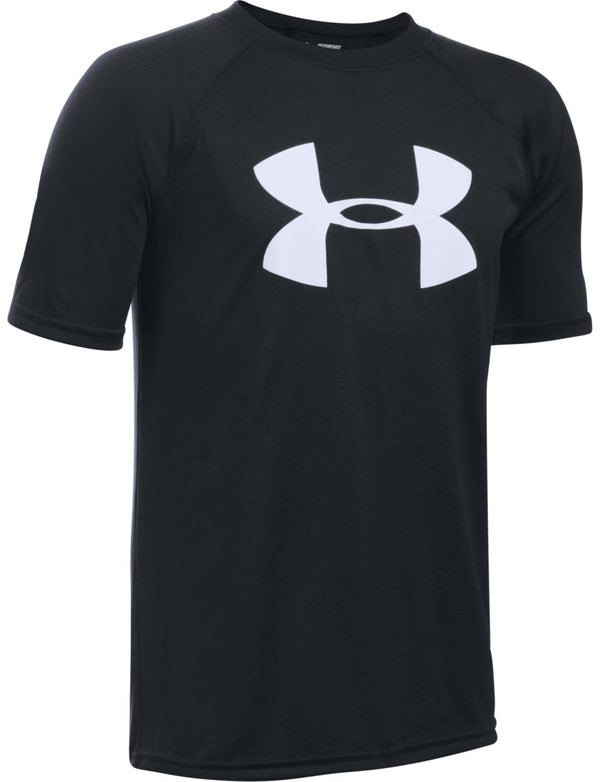 Under Armour Girls' Big Logo T-Shirt, Black/White