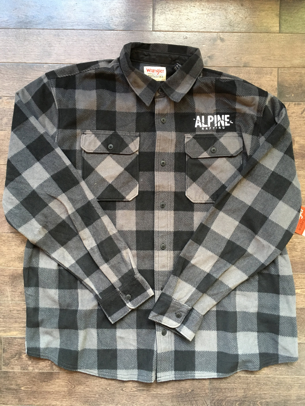 Wrangler Grey Plaid Fleece
