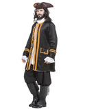 Admiral Norrington Coat - Black
