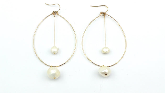 Pearl Pendulum Earrings