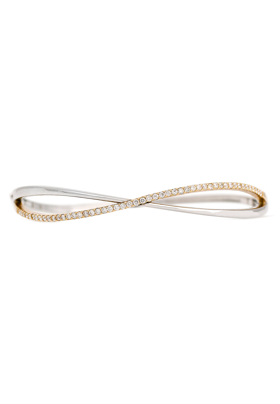 Infinity Diamond Bangle - K.D. Jewelry Sf