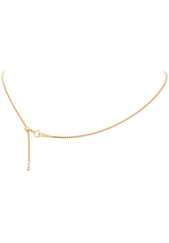 18K Yellow Gold Adjustable (1.60 MM Thickness) Popcorn Chain
