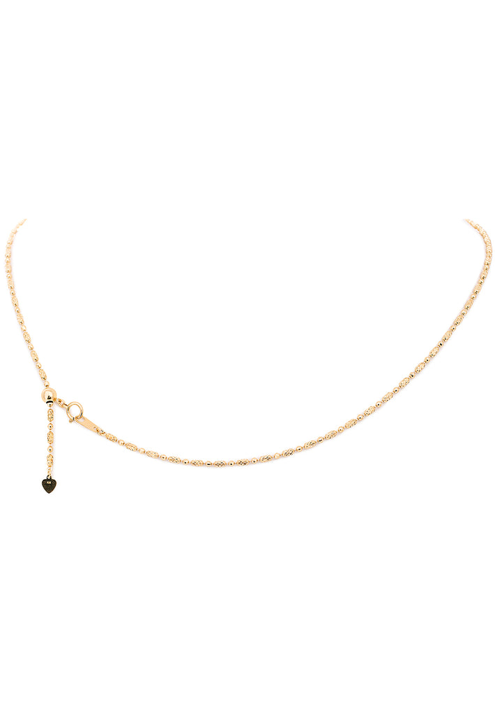 18K Yellow Gold Adjustable Design Chain - K.D. Jewelry Sf