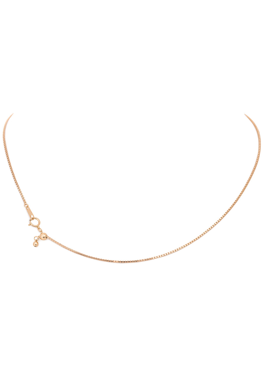 18K Yellow Gold Adjustable (1.0 MM Thickness) Box Chain - K.D. Jewelry Sf
